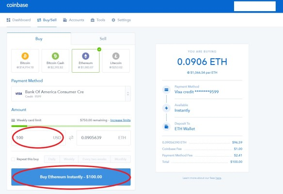 Coinbase Buying Crypto Step 3 finished